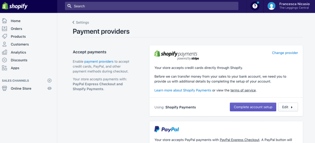 instructions on how to use shopify
