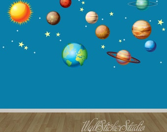 3d glow in the dark solar system instructions