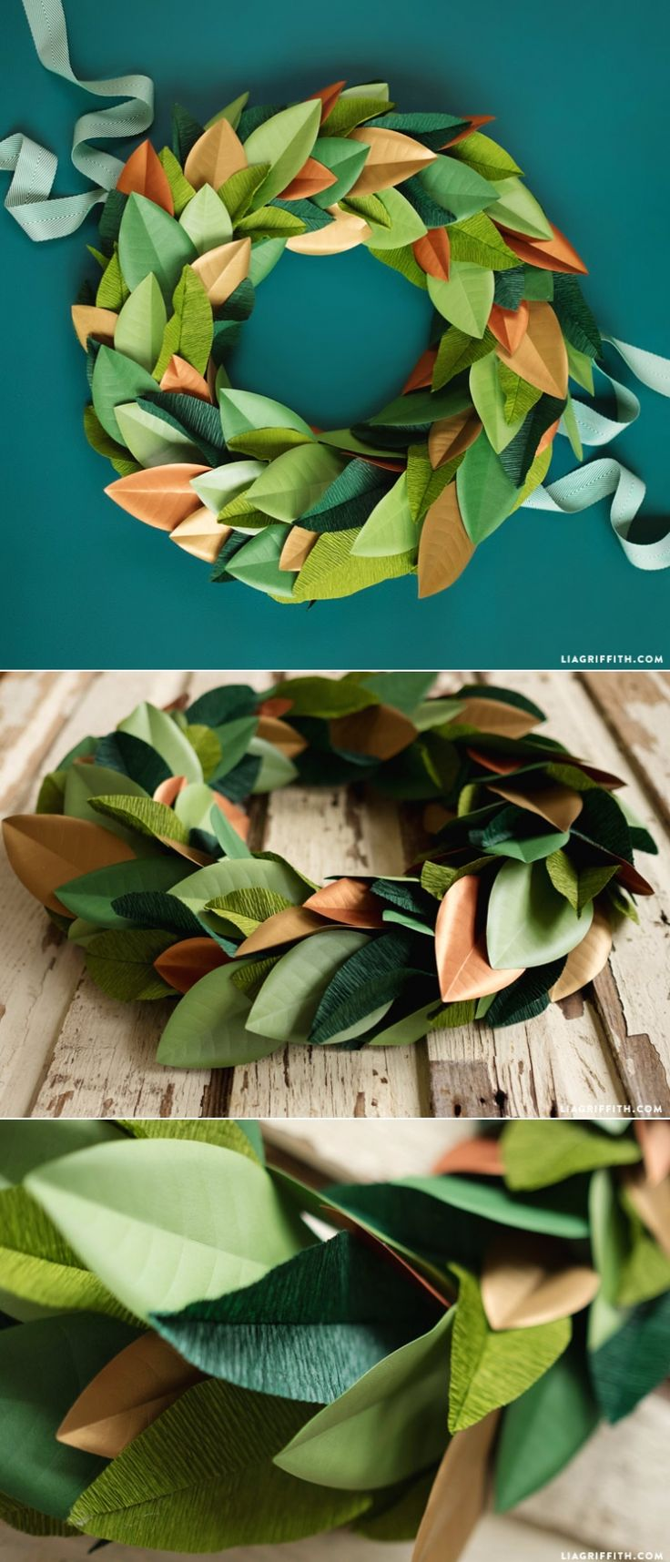 paper rose wreath instructions