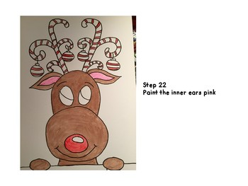reindeer directed drawing instructions