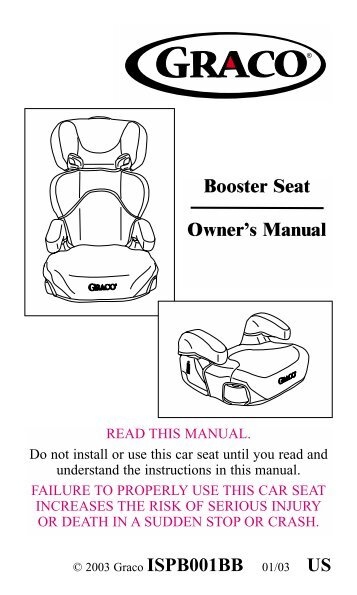 skybox booster seat instructions