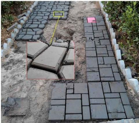 instructions for using the precast molds forms for sidewalks